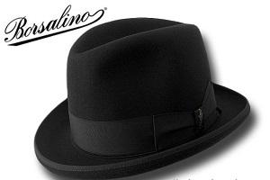 CAPPELLO NERO BORSALINO LOBBIA HOMBURG HAT HUT CHAPEAU FELTRO LAPIN ... 0bbe81c128b1