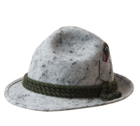 enorme inventario confrontare il prezzo caratteristiche eccezionali Cappello tirolese con taschino laterale per piume firmato Hutter